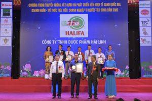 Dược Hải Linh ( HALIFA ) vinh dự được nhận Thương hiệu vàng Việt Nam năm 2020
